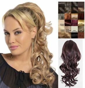 KOKO BLOSSOM CLIP IN DRAWSTRING LONG CURLY PONYTAIL HAIR PIECE VOLUME UPDO PONY