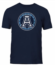 Men's Toronto Argonauts Navy Primary Logo CFL Football 100% Cotton T Shirt