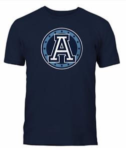 Men's Toronto Argonauts Navy Primary Logo CFL Football 100% Cotton T Shirt