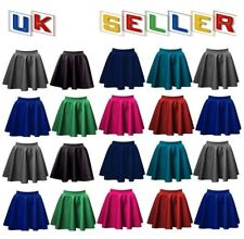 Women ladies flared above knee length skater stretch midi office work skirt PnT
