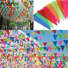 8M LONG GIANT FLAG BUNTING GARLAND PENNANT GARDEN PARTY FETE PUB DECORATION HOCA