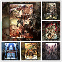 Attack On Titan Poster Style Eren Anime Wall Art Poster Scroll Home Decoration
