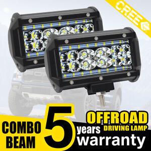2x 1000W LED Work Light Bar Flood Spot Lights Driving Lamp Offroad Car Truck SUV