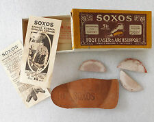 Vintage 1920s Soxos arch support for flat feet original box patent shoe insole