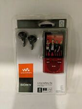 Sony Walkman NWZ-E344 Red & black 8 GB Digital MP3 Player FM radio new sealed