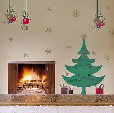 Wandsticker Wandtattoo Wand Deko Weihnachten XL Weihnachtbaum Tannenbaum