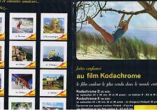 PUBLICITE ADVERTISING 084 1964 KODACHROME le film le plus vendu au monde (2 page