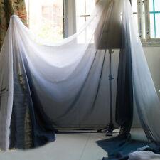 2 Yds Black White 30D Shade Chiffon Fabric Dancing Dress Material Gradual Gauze