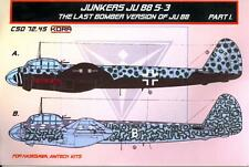 KORA Models 1/72 JUNKERS Ju-88S-3 Last Bomber Version Resin Conversion Set