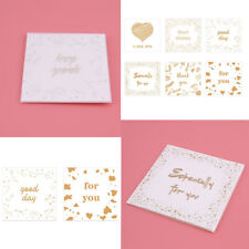 Handmade Gold Printing Blessing Greeting With Envelope Card Birthday Gift Card D