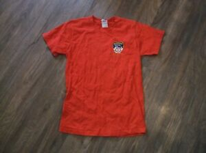 FDNY Fire Department of New York City T Shirt Sz Small S 100% Cotton Red
