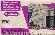 Voigtlander Vito Automatic Camera Instruction Book Original Model, Others Listed
