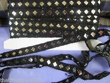 **Black Aztec Mirroir Designer Trimming Braid £2.50 Per Metre.**