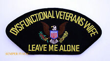 DYSFUNCTIONAL VETERAN'S WIFE HAT PATCH PIN UP US AIR FORCE NAVY ARMY MARINES
