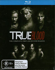 TRUE BLOOD-First & Second season-Blu Ray-10 disc set-Brand New-Still Sealed-1,2,