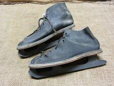 Vintage Ice Skates > Old Antique Skate Shoes Canada Riveted Roller 7082