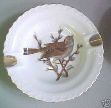 A6 Old glass Ashtray Warbler Bird Finch Star Set What?