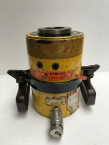 """ENERPAC RCH 603 HYDRAULIC HOLLOW CYLINDER 60 TONS CAPACITY 3"""" STROKE #8"""