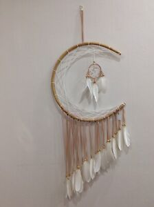 EXTRA LARGE HAND MADE MOON DREAM CATCHER