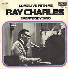 """RAY CHARLES – Come Live With Me (1973 VINYL SINGLE 7"""" RARE DUTCH PS)"""