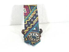 Vintage Men's Structure Tie Colorful Design Made in Italy
