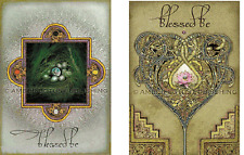6 Blessed Be Celtic Blessings Cards 2 designs NEW Blank inside 6 Envelopes
