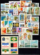 Brazil - 1982 - Complete Year - 52 stamps-6 Souvenir Sheets - Mint Never Hinged