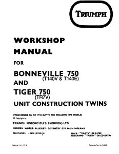T140 Motorcycle Repair Manuals Literature For Sale Ebay