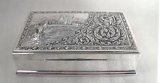 Dose 925 Silber Sterling Zigarettendose Silberdose Schatulle Sterlingsilber RAR