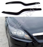 Fits Ford Focus MK2 FaceLift 2007-2010 Headlight Eyebrows ABS PLASTIC, tuning