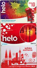Malaysia Used Phone Card : 3 pcs Helo