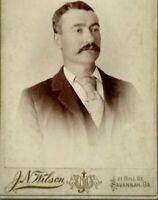 1890s SAVANNAH GEORGIA Man J.N. Wilson Studio Antique Cabinet Card Photo