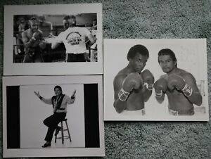 3 Different Original Vintage Boxing Photos: Roberto Duran