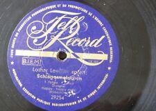 78 rpm LOTHAR LOEFFLER schlagermelodien