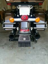 Fringed Front Fender Flap, Universal Fit or Harley Davidson W/ STUDS & CONCHO