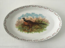 "HUB BERNHART AUSTRIA Rose Game Bird Ring Neck Pheasant 18"" OVAL SERVING PLATTER"