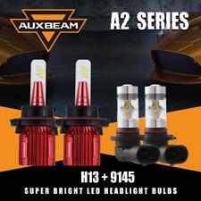 Auxbeam H13 9008 Hi&Lo LED Headlight+9145 H10 Fog Bulb for 2004-2014 Ford F-150
