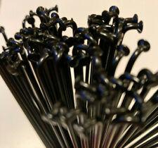Halo and Sapim black plain gauge, stainless steel, bicycle spokes & nipples