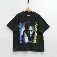 Vintage Marcus Miller Sun Don't Lie Album T-Shirt Size Large Black 90s R&B Jazz