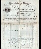 """TOULOUSE (31) USINE / CHEMISERIE ,FLANELLE & LINGERIE """"GALIGNER & LEVY"""" en 1913"""