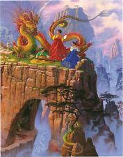 Dragon Serenade Fantasy Woman Glow Dark 500 pc Bagged Boxless Jigsaw Puzzle