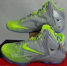 New Mens SZ 11 NIKE Lebron XI Collection Luster Volt Ice Shoes $220 683252-074