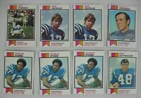 1973 TOPPS LOT OF NFL BALTIMORE COLTS FOOTBALL CARDS