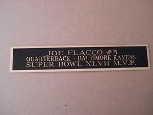 Joe Flacco Ravens Autograph Nameplate for a Football Helmet Display Case 1.5 X 8