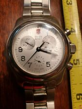 Vintage Victorinox Swiss Army Swiss Made Stainless Steel Men's Chronograph Watch