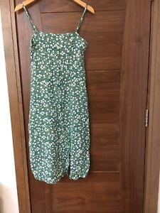 Motel Rocks Green Floral Midi Dress Size S