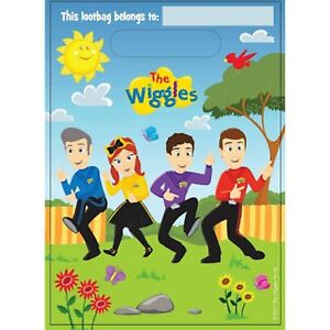 The Wiggles Party Loot Bags / Favour Lolly Bags 8pk - The Wiggles Party Supplies
