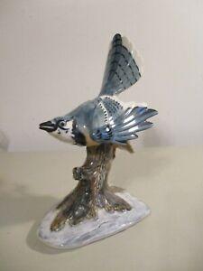 "LARGE Pennsbury Pottery, Blue Jay  BIRD FIGURINE, Blue Jay, 10.5 "" No Reserve"