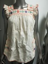 Vintage Hand Embroidered Peasant Blouse Top