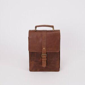 NORDBURY Leather Messenger Bag, Crossbody Shoulder Travel Bag